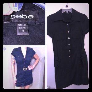 Bebe button up shirt dress